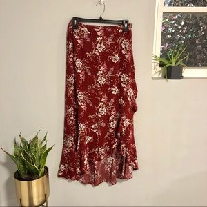 American Eagle Maxi High-Low Floral Skirt